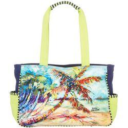 Leoma Lovegrove Palms Away Beach Bag Tote