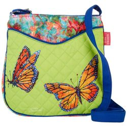 Leoma Lovegrove Flower Kisses Quilted Crossbody Handbag