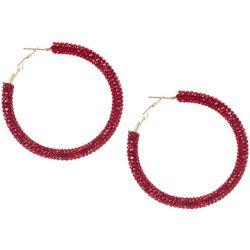 Brighten the Season Pave Crystal Hoop Earrings