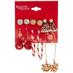 Brighten the Season 6-pc. Studs Hoops Threader Earring Set