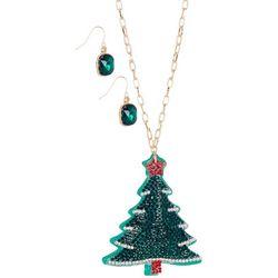 Brighten the Season 2-pc. Christmas Tree Necklace Set