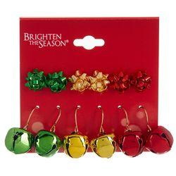 Brighten the Season 6-pc. Bows & Bells Earring Set