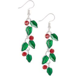 Brighten the Season Holly Vine Dangle Earrings
