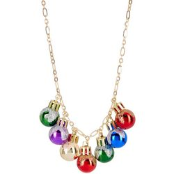 Brighten the Season Holiday Bulb Frontal Necklace