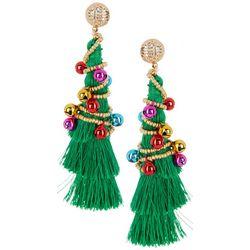 Brighten the Season Tassel Tree Earrings