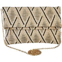 Urban Expressions Woven Chevron Clutch Handbag