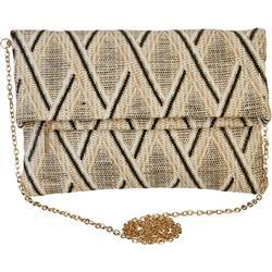 Woven Chevron Clutch Handbag