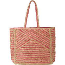 Shiraleah Blocked Stripes Straw Tote Handbag