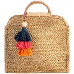 Shiraleah Adria Woven Tassel Handbag
