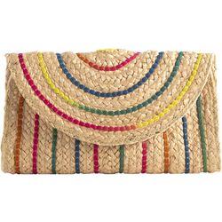 Shiraleah Striped Aria Clutch