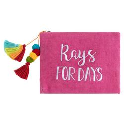 Rays For Days Embroidered Tassel Clutch