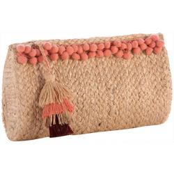 Aubrey Pom-Pom Clutch Handbag