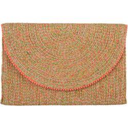 Shiraleah Woven Multicolored Clutch Handbag