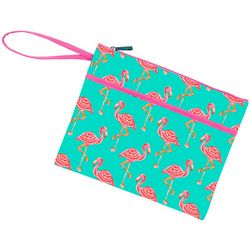 Viv & Lou Tickled Pink Zipper Pouch Wristlet