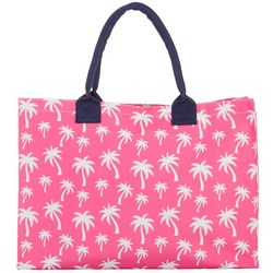 Viv & Lou Hot Pink Palm Beach Bag Tote