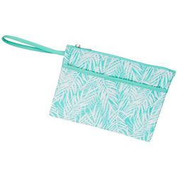 Viv & Lou Poolside Palm Zip Pouch Wristlet