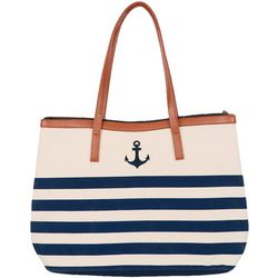 Dennis East Anchor & Stripes Tote Handbag