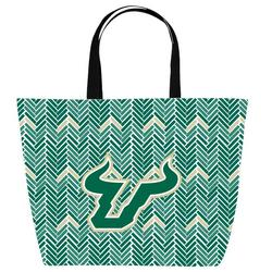 USF South Florida Bulls Game Day Chevron Tote By DESDEN