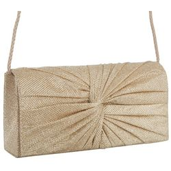 Metallic Twist Front Evening Clutch