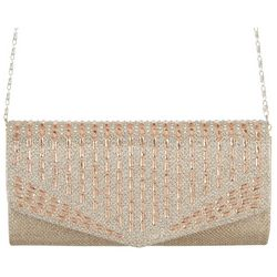 D'Margeaux Metallic Embellished Evening Clutch