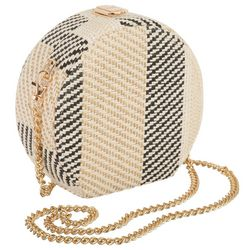D'Margeaux Woven Straw Round Crossbody