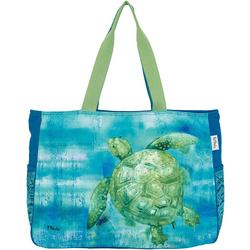Sea Turtle Embellished Oversized Beach Tote