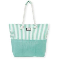 Sun N' Sand Solid & Stripes Beach Bag Tote