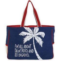 Sun N' Sand Palm Trees & 80 Degrees Beach Bag Tote