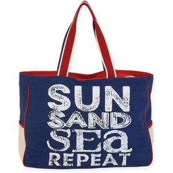 Sun N' Sand Sun Sand Sea Repeat Beach Bag Tote