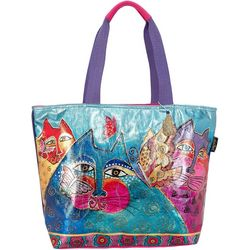 Laurel Burch Felines & Flutterbies Tote Handbag