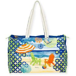 Paul Brent Geo Print Beach Bag Tote