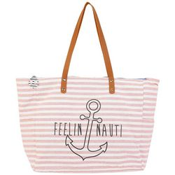 Sun N' Sand Feelin' Nauti Shoulder Tote Handbag