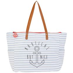 Sun N' Sand Nautical But Nice Shoulder Tote Handbag