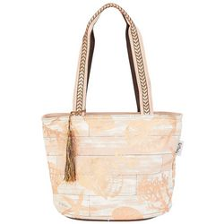Paul Brent Gold Shell Tassel Tote
