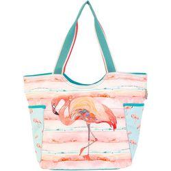 Sun N' Sand Pink Flamingo Beach Bag Tote