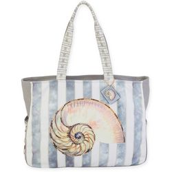 Sun N' Sand Nautilus Seashell Oversized Beach Bag Tote