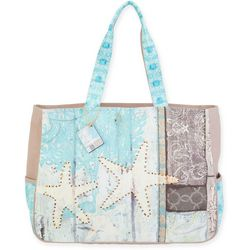 Sun N' Sand Starfish Oversized Beach Bag Tote