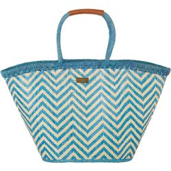 Sun N' Sand Chevron Straw Shoulder Tote Handbag