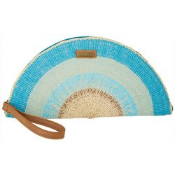 Sun N' Sand Womens Crescent Striped Wrislet Clutch
