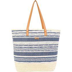 Sun N' Sand Artistic Stripe Beach Bag Tote