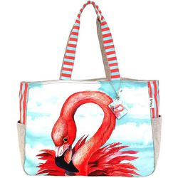 Paul Brent Oversized Artistic Canvas Flamingo Bag Tote