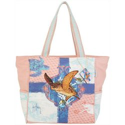 Guy Harvey Ocean Friends Shoulder Beach Bag Tote
