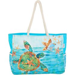 Paul Brent Sea Turtle Large Beach Bag Tote