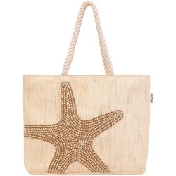 Sun N' Sand Canvas Starfish Beach Tote