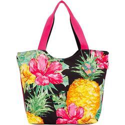 Pineapple Hibiscus Beach Scoop Tote