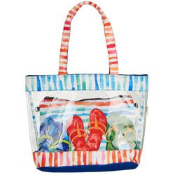 Paul Brent Clear Flip Flops 2-pc. Tote Beach Bag Set