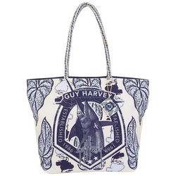 Guy Harvey Marlin Garden Shoulder Tote Handbag