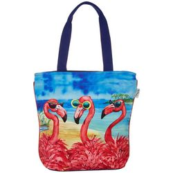 Flamingo Girlfriends Shoulder Tote Handbag
