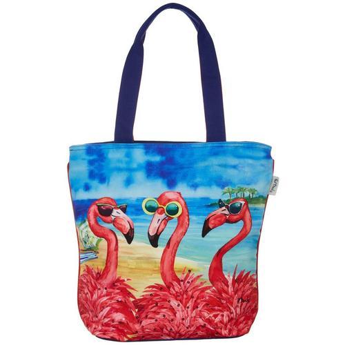 992f5be8698e Paul Brent Flamingo Girlfriends Shoulder Tote Handbag