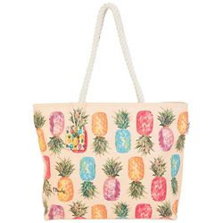 Paul Brent Happy Pineapples Beach Bag Tote